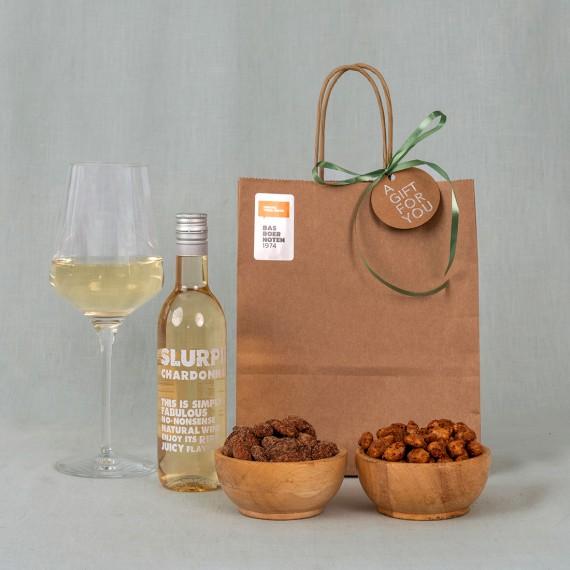 Wijn & nootjes borrelpakket