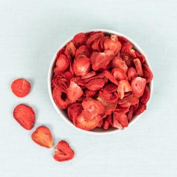 Aardbeien gevriesdroogd