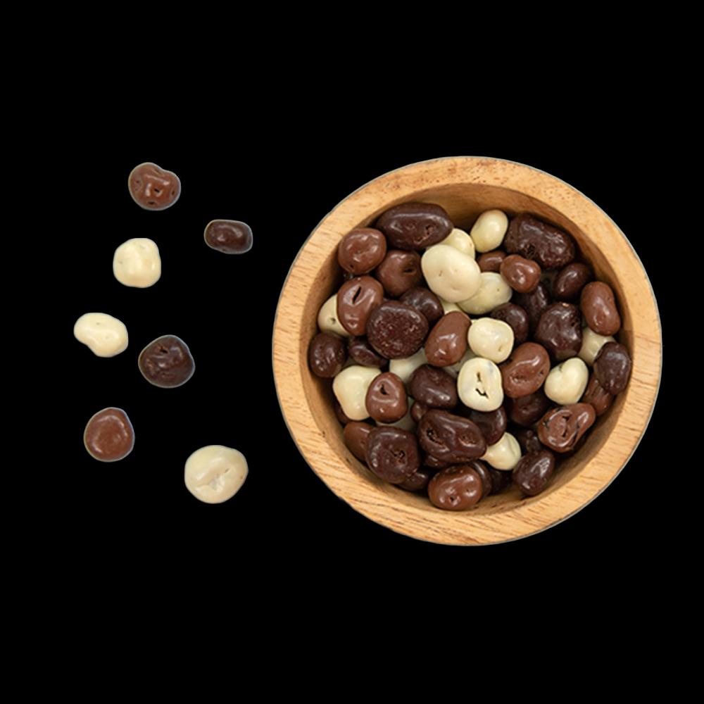 Chocolade pinda's & rozijnen