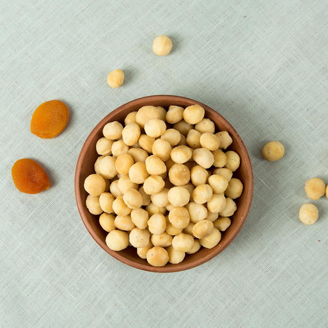 Macadamia noten ongebrand