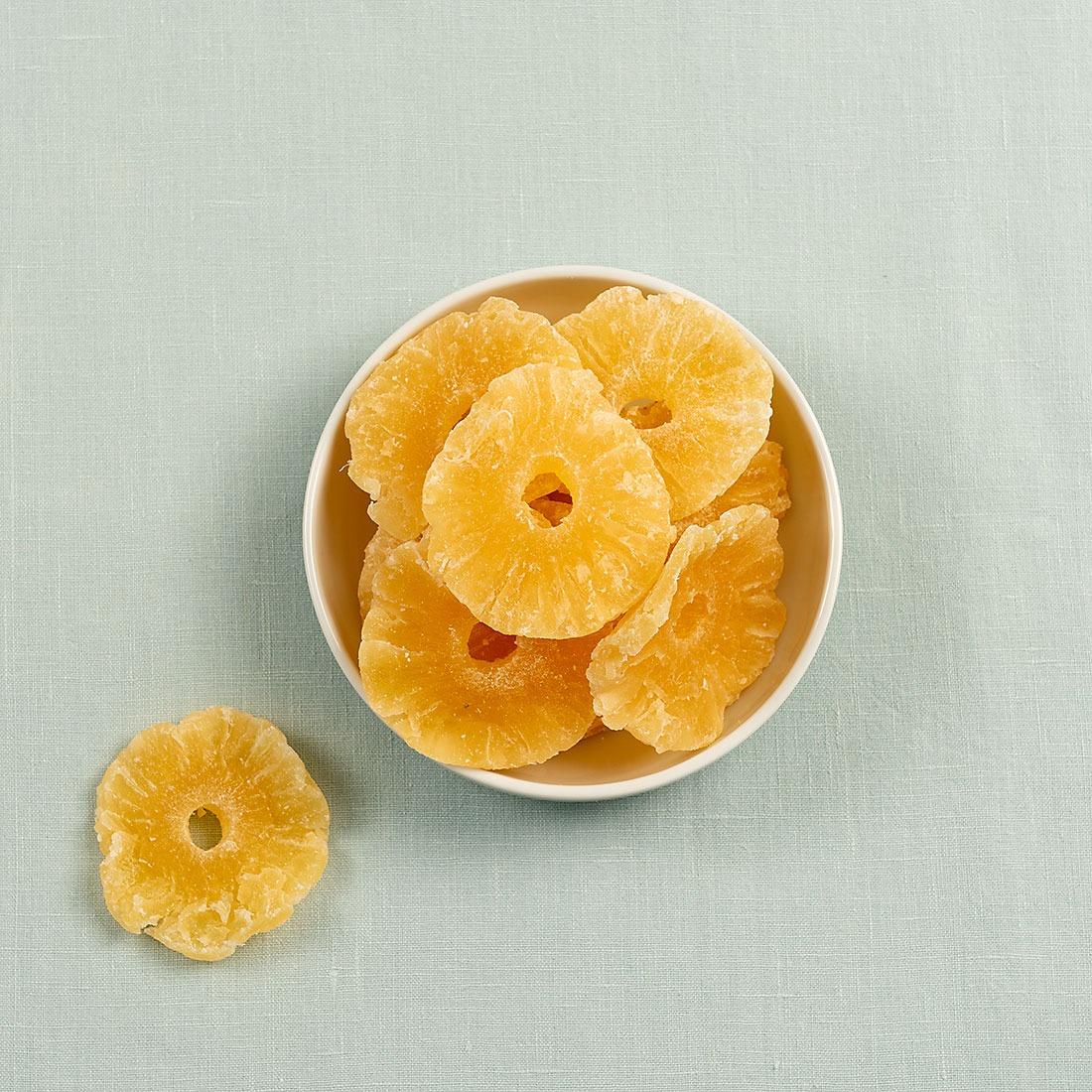 Ananas ringen gezoet
